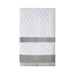 Wamsutta® Hotel Border Hand Towel in Grey