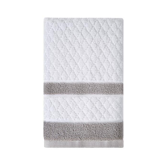 Alternate image 1 for Wamsutta® Hotel Border Hand Towel in Grey
