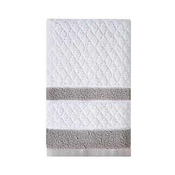 Wamsutta® Hotel Border Hand Towel in Grey