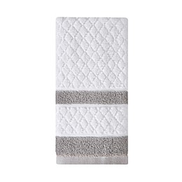 Wamsutta® Hotel Border Fingertip Towel in Grey