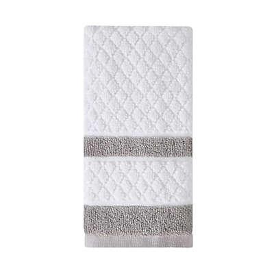Wamsutta® Merill Fingertip Towel in Grey