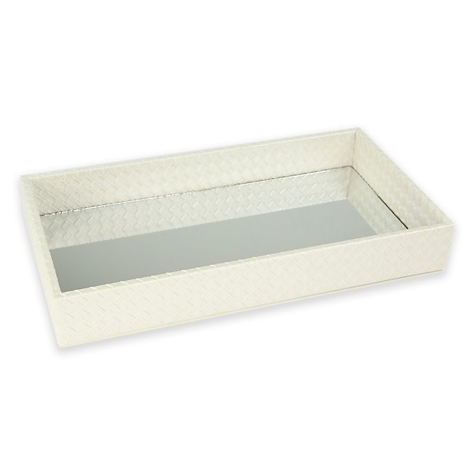 Alternate image 1 for Home Basics® Chrome Vanity Tray in Ivory