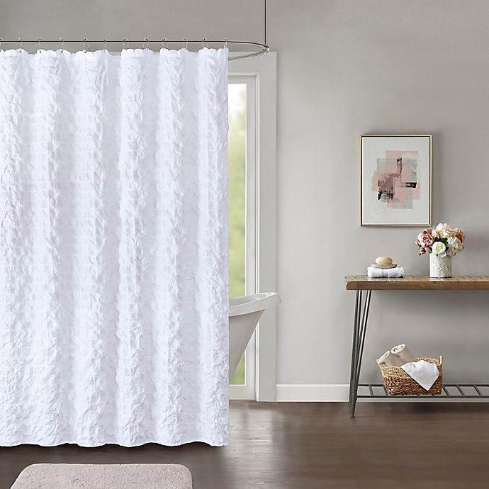 Alternate image 1 for Easton 72-Inch x 84-Inch Shower Curtain in White