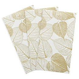 C.R. Gibson® 16-Count Pressed Leaves Paper Guest Towels