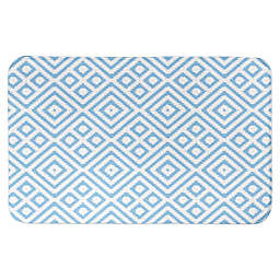"Designs Direct 34"" x 21"" Hanukkah Ikat Bath Mat in Blue"