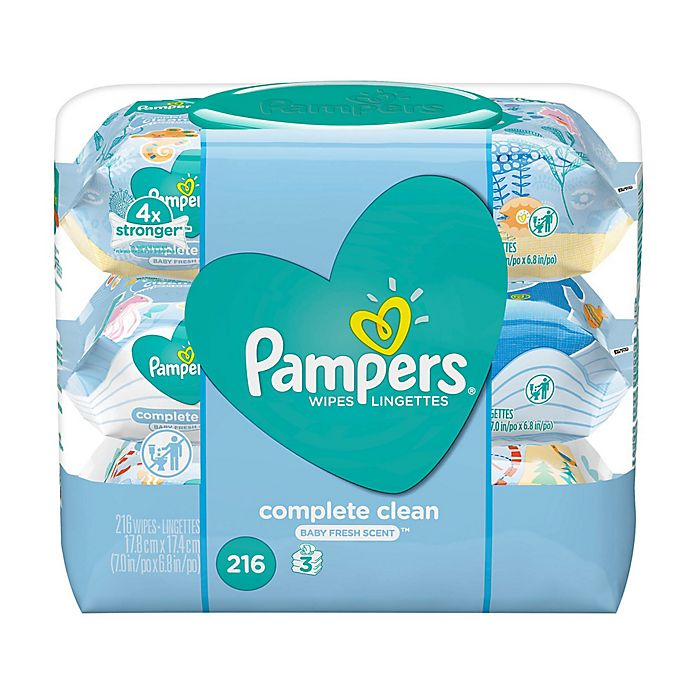 Alternate image 1 for Pampers® Complete Clean™ 216-Count Scented Baby Wipes