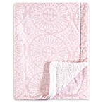 Yoga Sprout Mink Scroll Sherpa Blanket in Pink