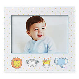 Little Me® 4-Inch x 6-Inch Animals Wood Picture Frame