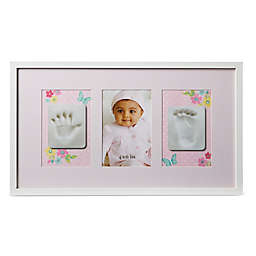 Little Me® Hand & Foot Critters 4-Inch x 6-Inch Picture Frame in Pink