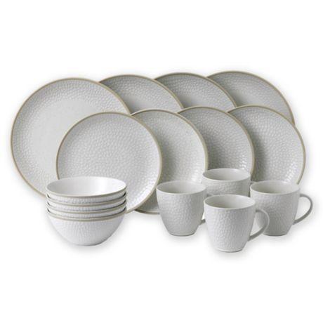 Tableware Dinner Kitchen Pack of 6 Pasta Plates Fish Steak Starter  Porcelain