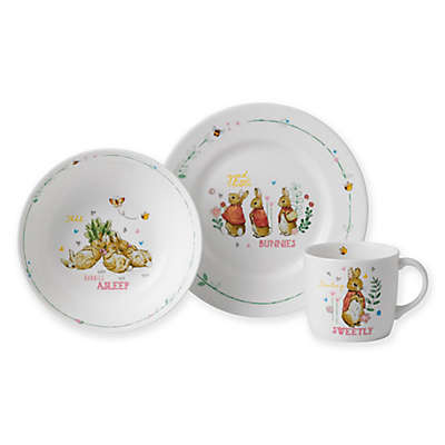 Wedgwood® Peter Rabbit™ 3-Piece Nursery Place Setting in Pink