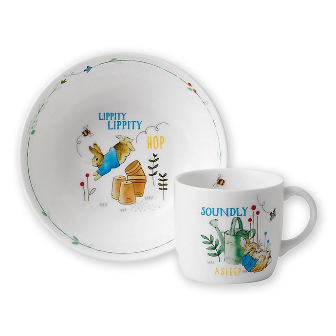 Alternate image 1 for Wedgwood® Peter Rabbit™ 2-Piece Nursery Place Setting in Blue