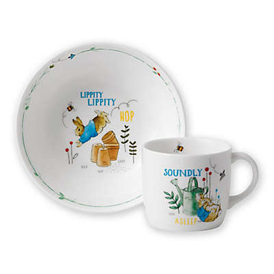 Wedgwood® Peter Rabbit™ 2-Piece Nursery Place Setting in Blue