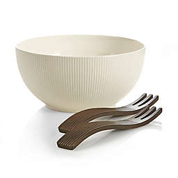 Nambe Origin Salad Bowl with Servers
