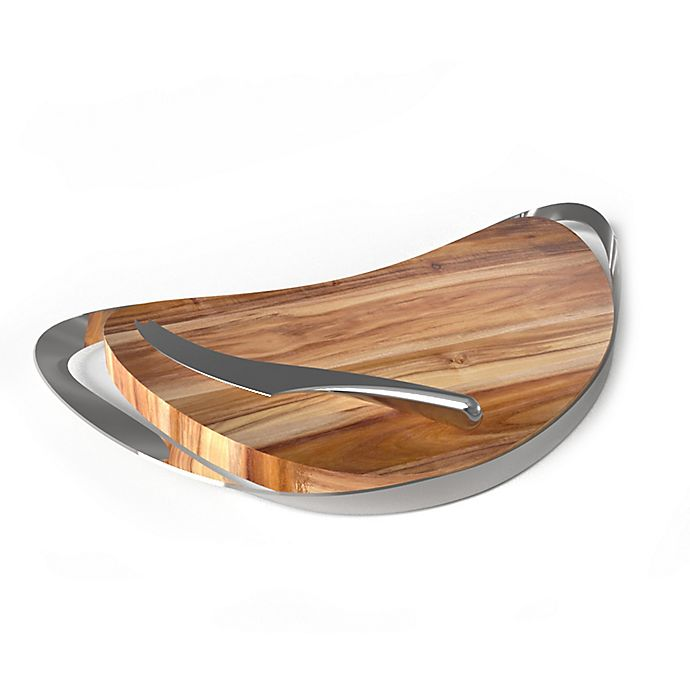 Alternate image 1 for Nambe Pulse Cheese Board with Knife