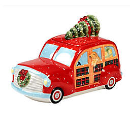 Certified International Home for Christmas Susan Winget 3-D Truck Cookie Jar