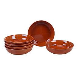 Certified International Orbit Soup/Pasta Bowls in Pumpkin (Set of 6)