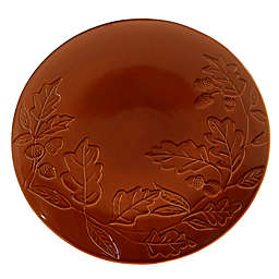 Certified International Acorn Round Platter in Pumpkin