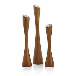 Nambe Grove Candlesticks (Set of 3)