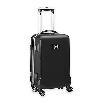 """Denco Initial """"M"""" 21-Inch Hardside Spinner Carry On Luggage"""