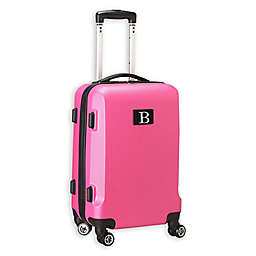 "Denco Initial ""B"" 21-Inch Hardside Spinner Carry On Luggage in Pink"
