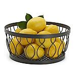Gourmet Basics by Mikasa® Rustic Farmstand Metal Fruit Basket in Vintage Grey<br /> <br />