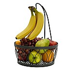 Gourmet Basics by Mikasa® Rustic Farmstand Fruit Basket with Banana Hanger in Vintage Grey