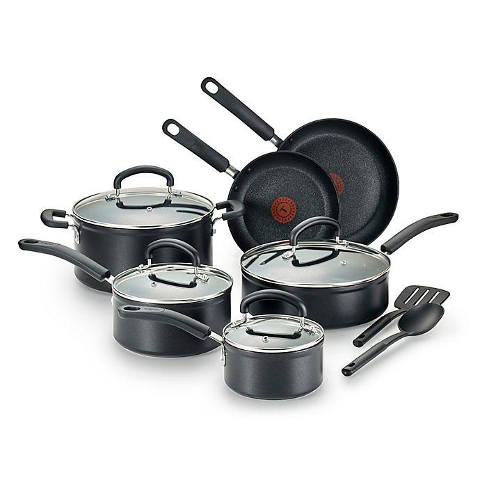 Alternate image 1 for T-Fal® Titanium Advanced Nonstick Aluminum 12-Piece Cookware Set in Black