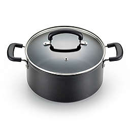T-Fal® Titanium Advanced Nonstick Aluminum 5 qt. Covered Jumbo Cooker in Black