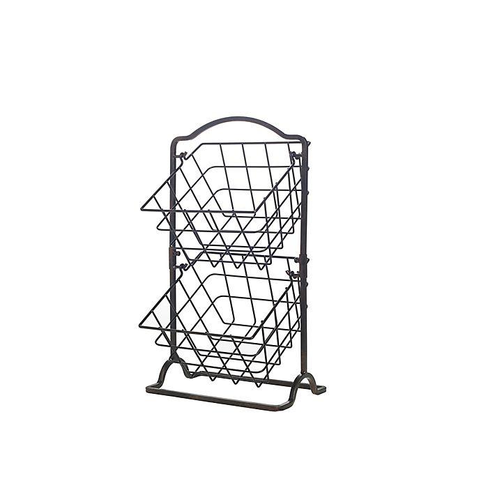 Alternate image 1 for Gourmet Basics By Mikasa® 2 Tier Hanging Basket in Black