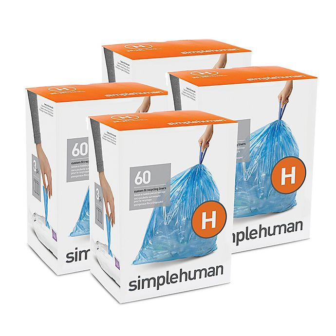 Alternate image 1 for simplehuman® Code H 240-Pack 30-35-Liter Custom-Fit Recyclable Liners in Blue