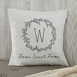 Personalized Farmhouse Floral Throw Pillow