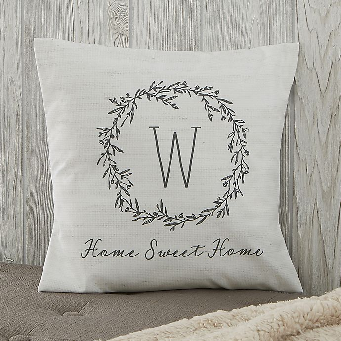 Alternate image 1 for Personalized Farmhouse Floral Throw Pillow