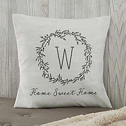 Personalized Farmhouse Floral Throw Pillow
