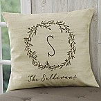 Personalized Farmhouse Floral 18-Inch Throw Pillow