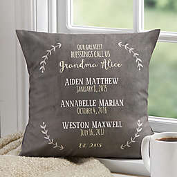Personalized Our Grandchildren Throw Pillow