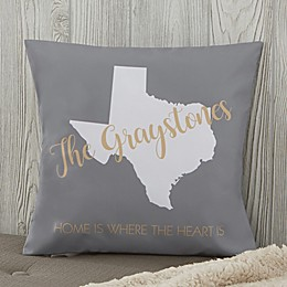 Personalized State Pride Throw Pillow