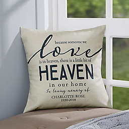 Personalized Heaven In Our Home Memorial Throw Pillow