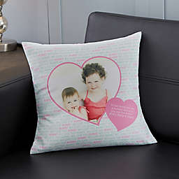 Personalized Love You This Much Photo Throw Pillow