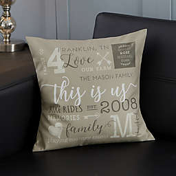 Personalized This Is Us Throw Pillow