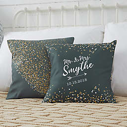 Personalized Sparkling Love Throw Pillow