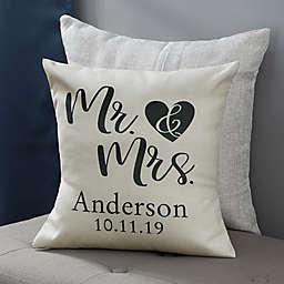 Personalized Elegant Couple Throw Pillow