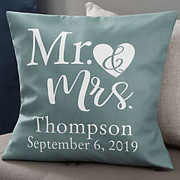 Personalized Elegant Couple 18-Inch Throw Pillow