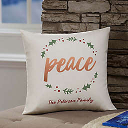 Personalized Cozy Christmas Throw Pillow
