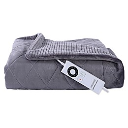 Berkshire Blanket® Intellisense™ Embossed Diamond Heated Throw Grey