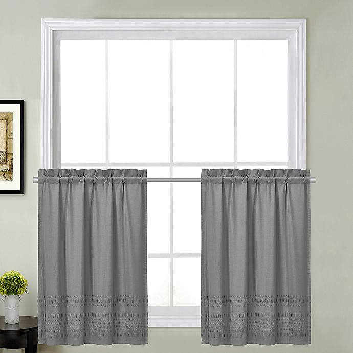 Alternate image 1 for Sophia 24-Inch Kitchen Window Curtain Tier Pair in Grey