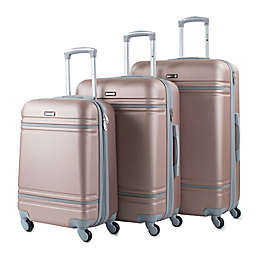 American Sport Plus Varsity 3-Piece Hardside Spinner Luggage Set