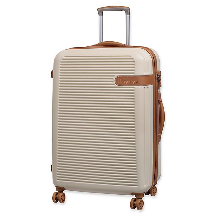 Alternate image 1 for it Luggage Valiant 28-Inch Hardside Spinner Checked Luggage in Cream