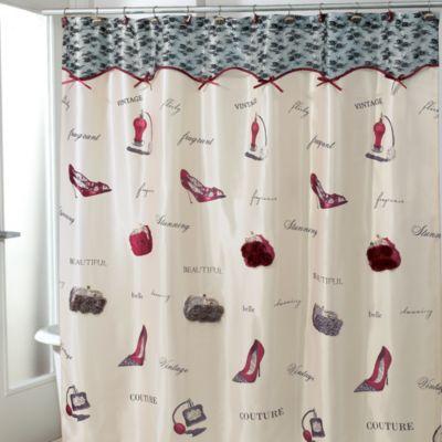 Avanti Flirty 70 Inch X 72 Inch Fabric Shower Curtain