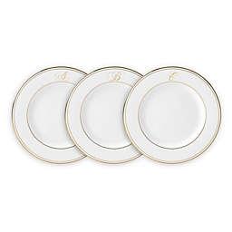 Lenox® Federal Gold™ Monogrammed Script Letter Salad Plate